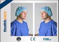 China PP Or SMS Disposable Bouffant Surgical Caps , Disposable Nurse Cap Lightweight factory