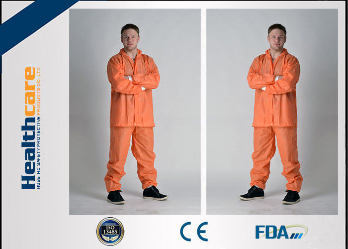 Grey Color Disposable Protective Coveralls One Piece With Durable