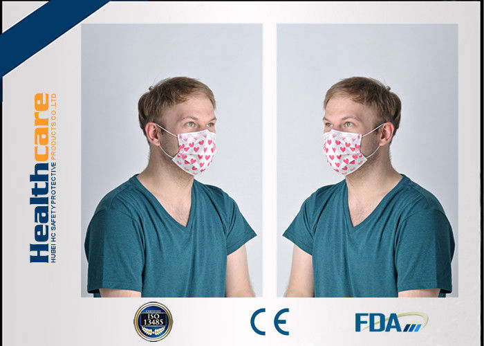 disposable mouth face mask 3-ply latex free