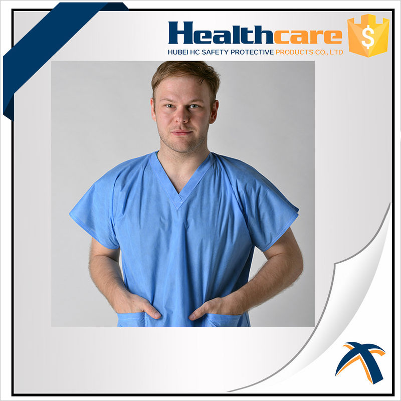 PP Disposable Isolation Gowns With Seperate Tie for Beauty Centre ...