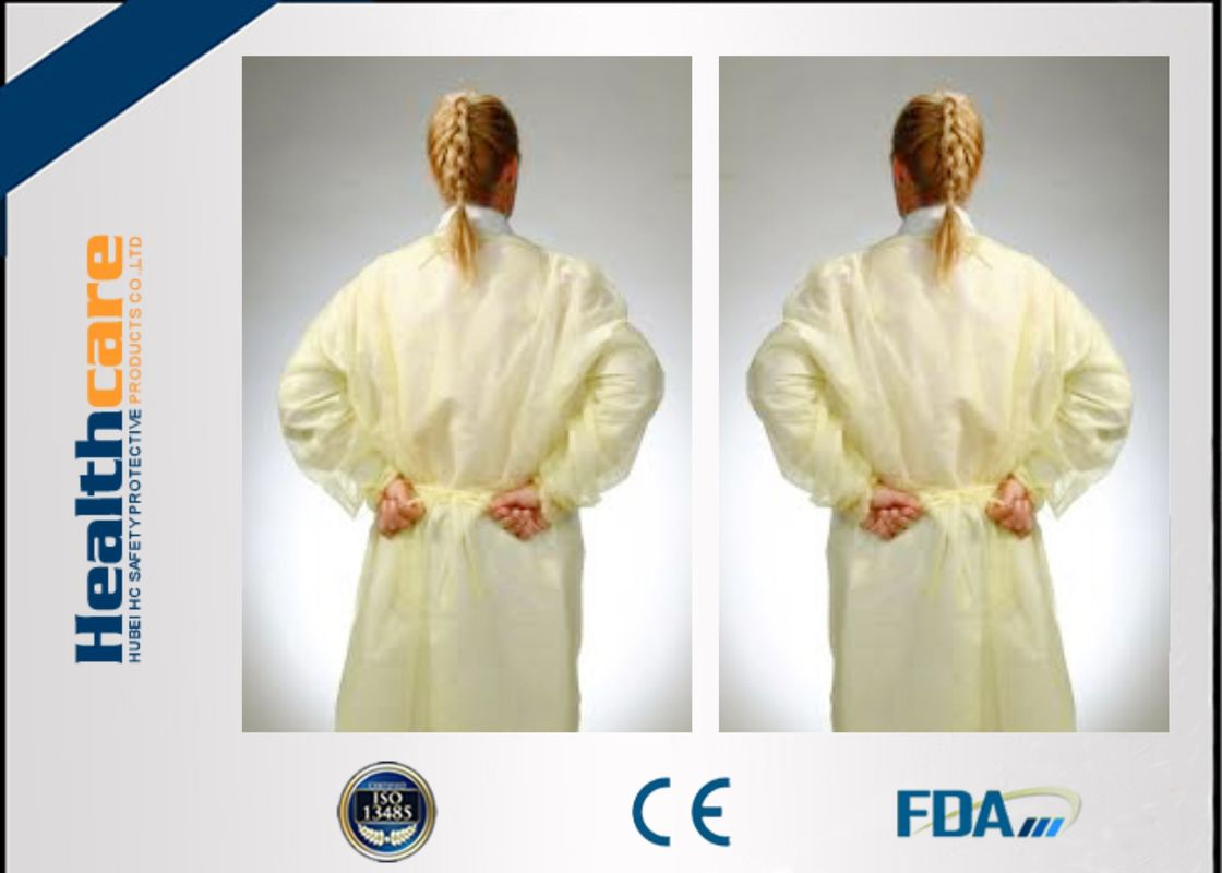 Disposable Isolation Gowns Non - Irritating , Disposable Patient ...