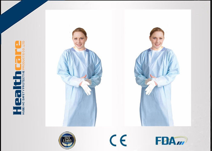 Nonwoven Disposable Medical Exam Gowns With Elastic Cuff S-3XL CE ...