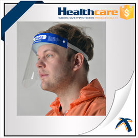 Hospital Protection Disposable Full Face Shields , Safety Medical Face Shield Visor