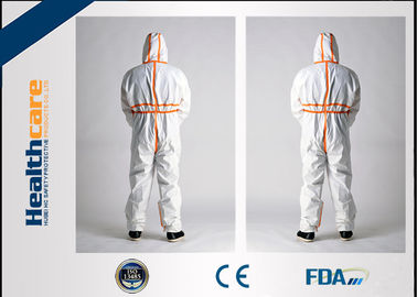 China Waterproof Disposable Protective Coveralls With PP+PE Microporous Material factory