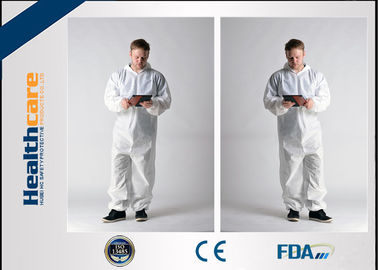 China Waterproof Insulated Disposable Protective Coveralls , Full Body Cleaning Suit CE FDA factory