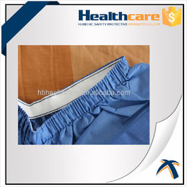 Blue PP / SMS Disposable Protective Gowns Scrub Suit Lightweight S-5XL Size