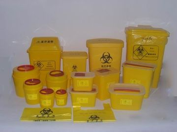 Red Or Yellow Medical Waste Containers , Disposable Sharps Containers Round Shape