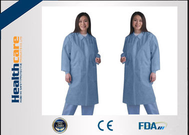 Waterproof Medical Student Disposable Lab Coat Lab Jackets For Doctors Zip Closure