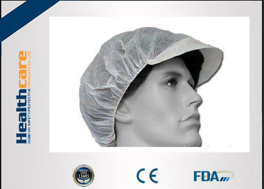 Nonwoven PP Disposable Head Cap Bule/White Cap With Peaked CE ISO FDA For Food