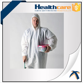 China 2020-nCov new Coronavirus 25G PP White Disposable Coveralls With Hood And Shoe Cover factory