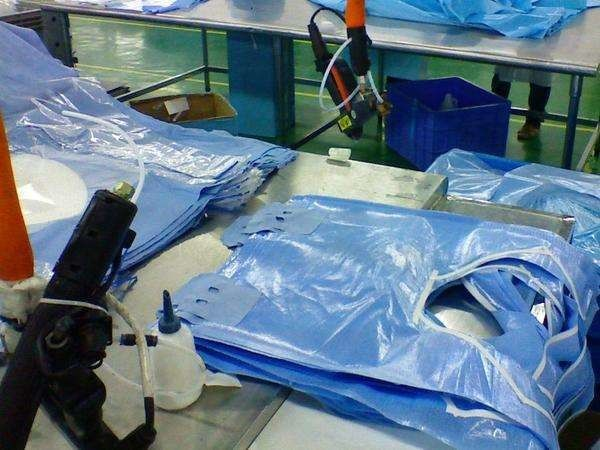 Hubei Healthcare Protective Products Co., Ltd. factory production line 3