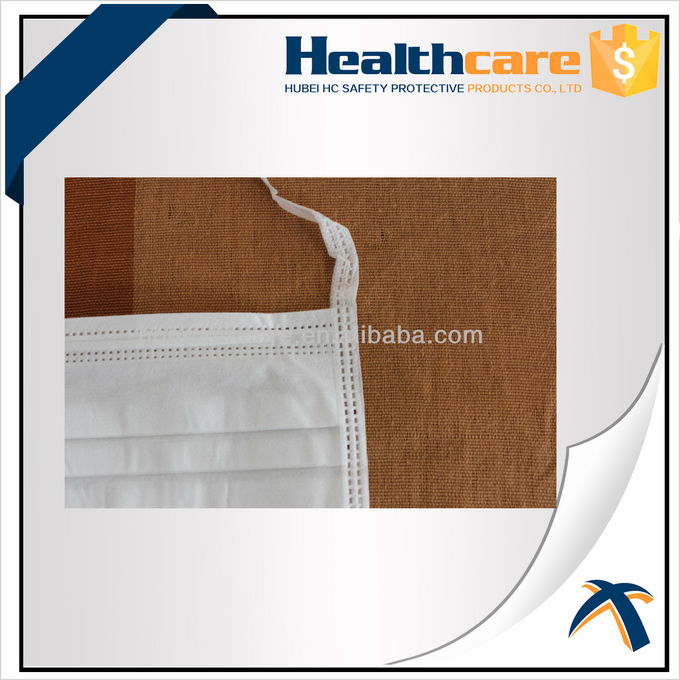 Non Woven Disposable Mouth Mask With Elastic Ear Loop For Dental Single Use