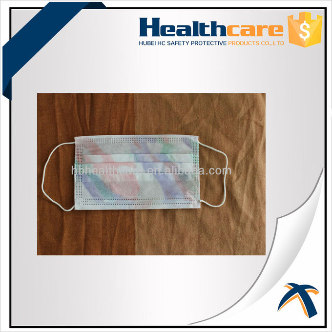 Hospital Face Mask Surgical Disposable 3 Ply With ISO 13485 / ISO 9001 Approved