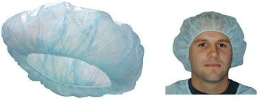 PP Or SMS Disposable Bouffant Surgical Caps , Disposable Nurse Cap Lightweight