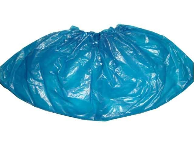 Blue Color Disposable Shoe Covers CPE Round Or Flat Elastic Size With CE ISO FDA