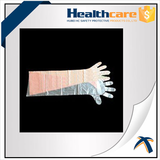 Dustproof Disposable Hand Cloves , Full Arm Disposable Food Service Gloves
